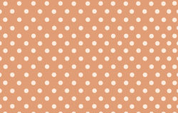 Polka dot with orange pastel color background Royalty Free Stock Photo