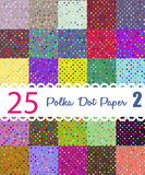 Polka dot paper. Set of 25 seamess patterns Stock Photography
