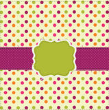 Polka dot patchwork design card Stock Image