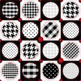 Polka dot patchwork Stock Images