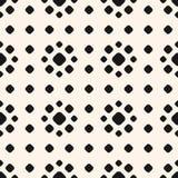 Polka dot pattern with circles, floral shapes. Royalty Free Stock Photo
