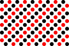 Polka dot pattern. Color Polka dot pattern background Royalty Free Stock Photography