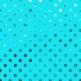 Polka Dot Pattern di Teal Blue Aqua Metallic Foil Fotografia Stock Libera da Diritti