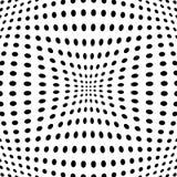 Polka dot pattern with fisheye effect. Vector illustration. stock illustration