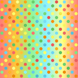 Polka dot pattern. Gradient multicolor seamless vector  Stock Photos