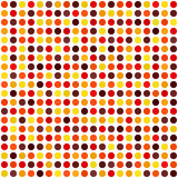Polka dot pattern. Seamless vector dot background. Maroon, red, orange, gold, yellow circles on white backdrop Stock Image