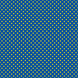 The polka dot pattern. Seamless vector illustration with round circles, dots. Yellow and blue. stock illustration