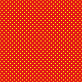 The polka dot pattern. Seamless vector illustration with round circles, dots. Yellow and red. Royalty Free Stock Photography