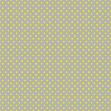 The polka dot pattern. Seamless vector illustration with round circles, dots. Yellow and taupe. Royalty Free Stock Photo