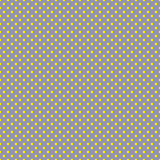 The polka dot pattern. Seamless vector illustration with round circles, dots. Yellow and taupe. Stock Photos