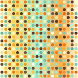 Polka dot pattern. Seamless vector retro dot background Royalty Free Stock Photos