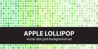 Polka dot pattern set Apple Lollipop. Vector seamless geometric Stock Images