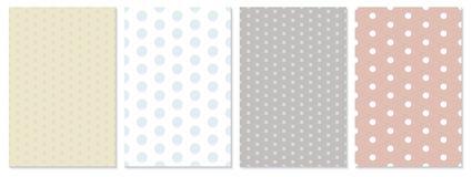 Polka dot pattern vector. Baby background. vector illustration