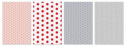 Polka dot pattern vector. Baby background. royalty free illustration
