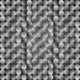 Polka dot pattern. Vector seamless grey background stock illustration