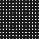 Polka dot pattern. Vector seamless texture. Black & white geomet Royalty Free Stock Photos