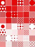 Polka dot patterns Stock Images