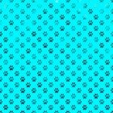 Polka Dot Paws Background d'aluminium de Teal Blue Dog Paw Metallic illustration stock