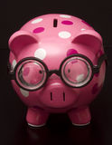 Polka Dot Piggy Bank Royalty Free Stock Photography