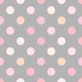 Polka dot pink Stock Photography