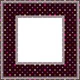 Polka dot purple border Stock Photos