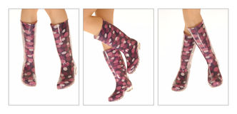 Polka Dot Rain Boots Royalty Free Stock Photography