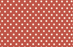 Polka dot with red pastel color background Royalty Free Stock Images