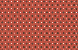 The polka dot with red pastel color background Royalty Free Stock Photos