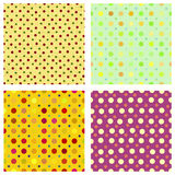 Polka dot repeat patterns. Four tilable polka dot seamless repeat patterns to create backgrounds Royalty Free Stock Image