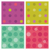 Polka-dot repeat patterns (seamless backgrounds) Royalty Free Stock Photo