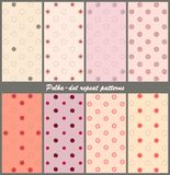 Polka-dot repeat patterns Stock Photo