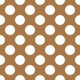 Polka Dot Repeating Pattern de Brown Image stock
