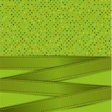 Polka dot and ribbon card Stock Photography