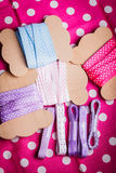 Ribbon bobbins Stock Image