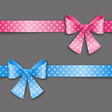 Polka dot ribbons Stock Images
