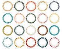 Polka dot scalloped circle labels Stock Photos