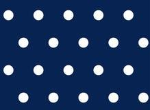Polka dot seamless background white on blue pattern. Royalty Free Stock Photography