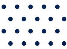Polka dot seamless background white on blue pattern Royalty Free Stock Photo