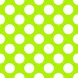 Polka Dot Seamless Paper Pattern de vert de chaux Images stock