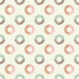 Polka dot seamless pattern. Chalk bagels. Scribble texture. Textile rapport Royalty Free Stock Photo