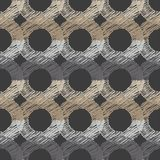 Polka dot seamless pattern. Chalk bagels. Scribble texture. Textile rapport Royalty Free Stock Images