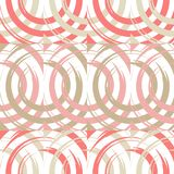 Polka dot seamless pattern. Circles in the square. Manual hatching. Brushwork. Scribble texture. Тextile rapport stock illustration