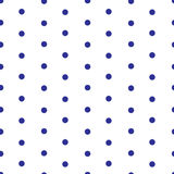 Polka dot seamless pattern. Pattern with dark blue polka dots on white background Seamless pattern background. Simple retro trendy design.Vector illustration Royalty Free Stock Photo