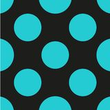 Polka dot seamless pattern. Dotted background with circles, dots, rounds Vector illustration Stock Image