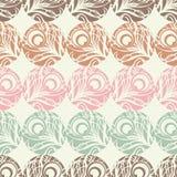 Polka dot seamless pattern. Feathers motif. Stock Image