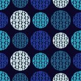 Polka dot seamless pattern. Fluffy polka dots. Stock Images