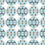 Polka dot seamless pattern. Fluffy polka dots. Royalty Free Stock Image