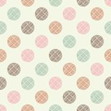 Polka dot seamless pattern. Geometric background. The colorful balls. Тextile rapport Stock Image