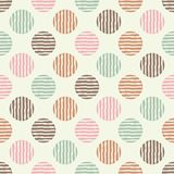 Polka dot seamless pattern. Geometric background. The colorful balls. Тextile rapport stock illustration