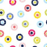 Polka dot seamless pattern. Geometric background. The colorful balls. Scribble texture. Тextile rapport Royalty Free Stock Images